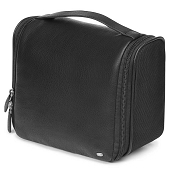 cc12fe836db3 Fedon 1919 Spicy TOIL-BEAUTY Black Leather Hanging Travel Toiletry Bag