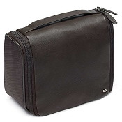 d515ce24de78 Fedon 1919 Spicy TOIL-BEAUTY Brown Leather Hanging Travel Toiletry Bag