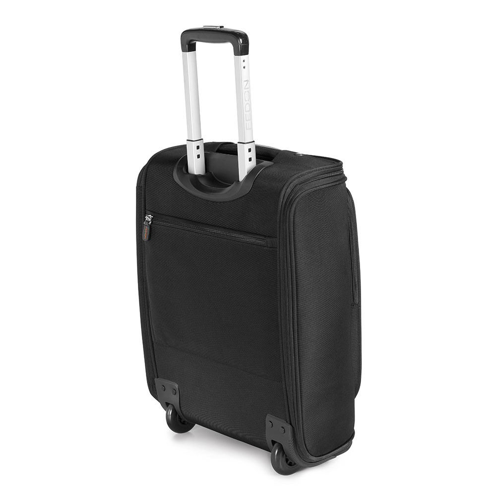 Fedon 1919 Travel WEB-MARCO-POLO Trolley Suitcase - Grey Black 002389fb027