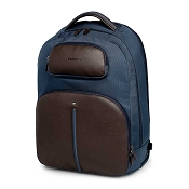 Fedon 1919 Travel WEB Luggage Rolling Laptop Backpack - Brown/Blue