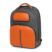 Fedon 1919 Travel WEB Luggage Rolling Laptop Backpack - Orange/Grey