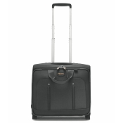 Fedon 1919 Travel WEB-TROLLEY-BZ Leather Pilot Bag - Grey/Black