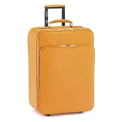 Fedon 1919 TRAVEL-TROLLEY Yellow Leather Trolley Bag
