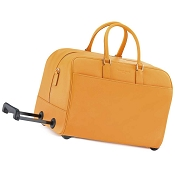 Fedon 1919 TRAVEL-TR-BAG Yellow Leather Travel Bag