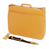 Fedon 1919 TRAVEL-DRESS Yellow Leather Garment Bag