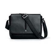 Fedon 1919 WEB-MESSENGER-1 Leather Shoulder Bag - Grey/Black