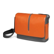 Fedon 1919 WEB-MESSENGER-1 Leather Shoulder Bag - Orange/Grey