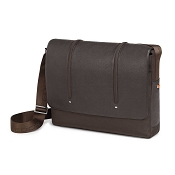 Fedon 1919 WEB-MESSENGER-2 Leather Laptop Shoulder Bag - Brown