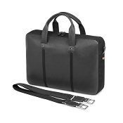 Fedon 1919 WEB-FILE-1 Leather Laptop/MacBook Bag - Grey/Black