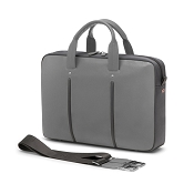 Fedon 1919 WEB-FILE-1 Leather Laptop/MacBook Bag - Grey/Grey