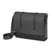 Fedon 1919 WEB-MESSENGER-2 Leather Laptop Shoulder Bag - Grey/Black