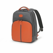 Fedon 1919 WEB Small Backpack - Orange Leather/Grey Nylon