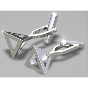 FdV Sterling Silver Cufflinks - Open Triangle
