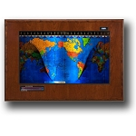 Geochron Boardroom World Clock - Cherry Wood