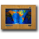 Geochron Boardroom World Clock - Honey Oak Wood
