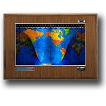 Geochron Boardroom World Clock - Walnut Cherry Wood