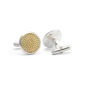 Jack Row Mirage Sterling Silver Cufflinks - Yellow Gold