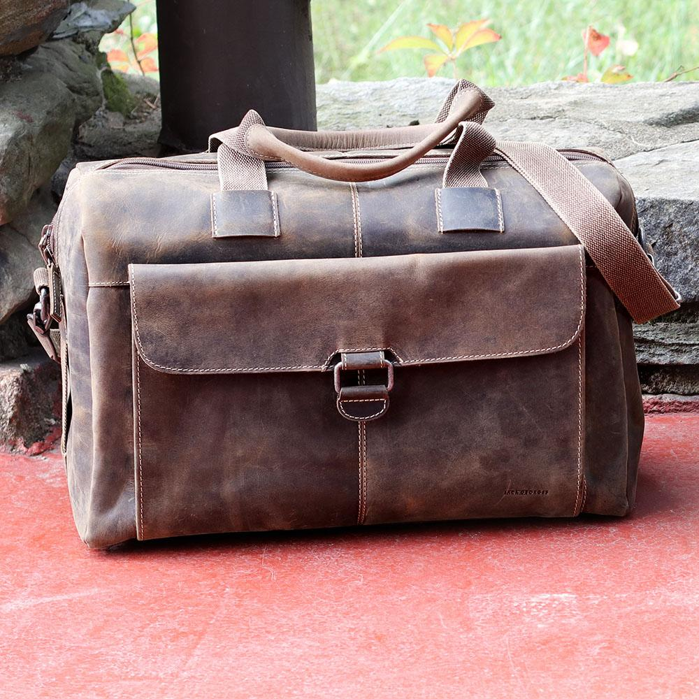 b63c3675f4f2 Jack Georges Arizona Leather Over Nighter   Day Laptop Travel Bag  A4718