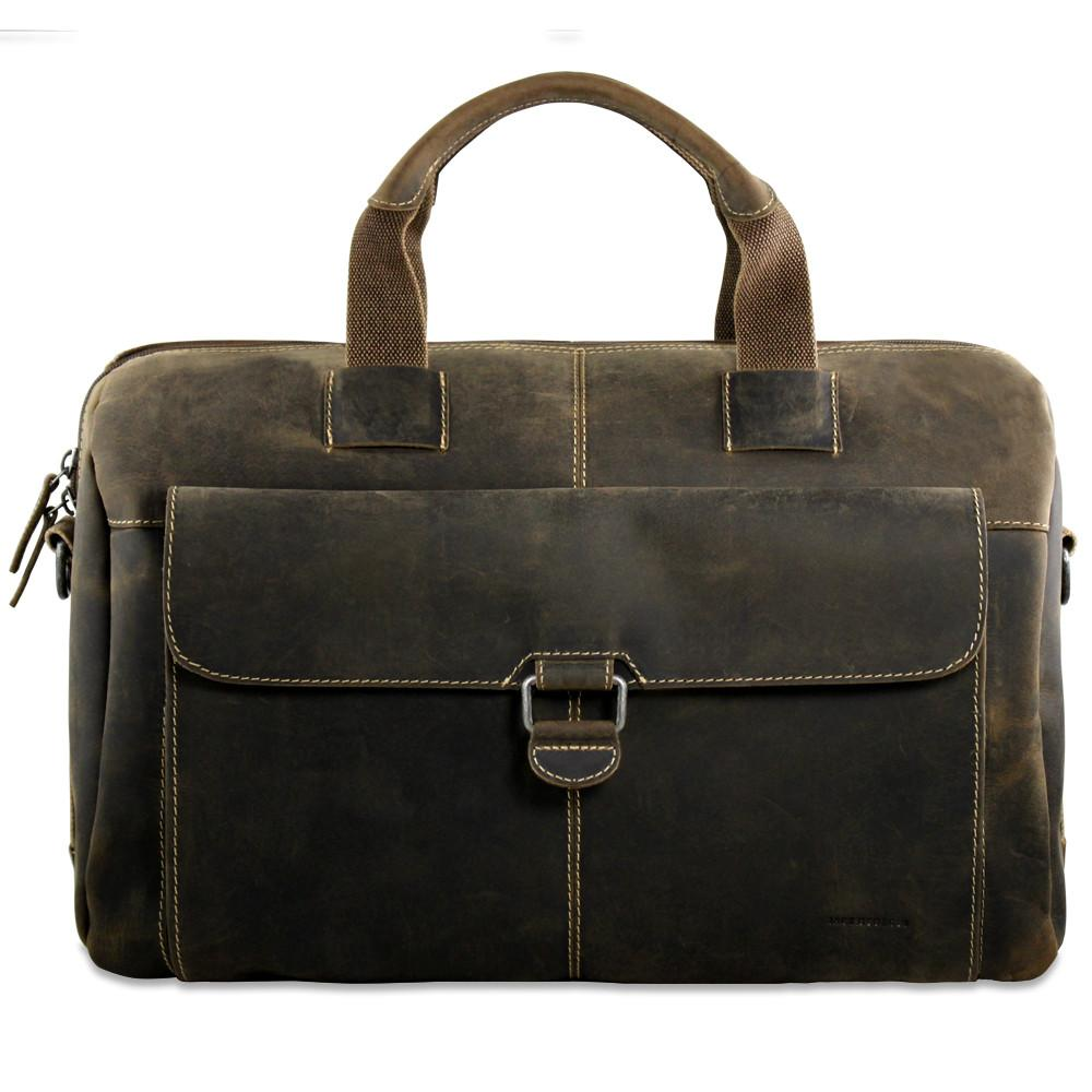 Jack Georges Arizona Leather Over Nighter / Day Laptop Travel Bag #A4718
