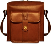 Jack Georges Belmont North/South Leather Messenger Bag #B2524