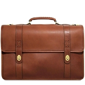 Jack Georges Belmont Executive Leather Briefcase #B2463