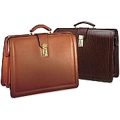 Jack Georges Belting Leather Classic Combination Lock Briefbag #9005