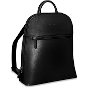 Jack Georges Chelsea Angela Small Black Leather Backpack #5835