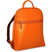 Jack Georges Chelsea Angela Small Orange Leather Backpack #5835