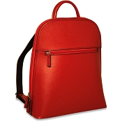 Jack Georges Chelsea Angela Small Red Leather Backpack #5835