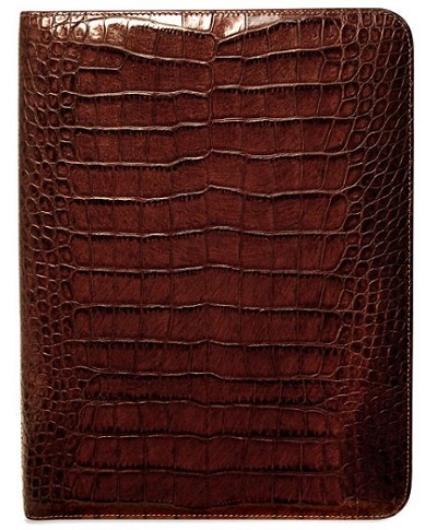 Jack Georges Croco Letter Size Leather Writing Pad