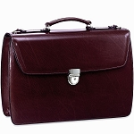 Jack Georges Elements Triple gusset flap w/open back pocket Briefcase