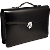 Jack Georges Elements Single Gusset Flapover Slim Leather Briefcase
