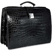 Jack Georges American Alligator Classic Briefbag Briefcase