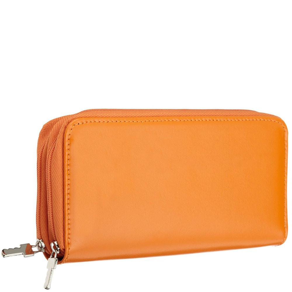 Jack Georges Milano Zippered Ladies Leather Clutch Wallet