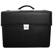 Jack Georges Prestige Double Gusset Flap Over Leather Briefcase