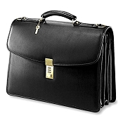 Jack Georges University Leather Executive Laptop Briefcase