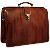 Jack Georges Monserrate Leather Classic Briefbag Briefcase