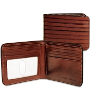 Jack Georges Monserrate Bi-Fold Leather Wallet