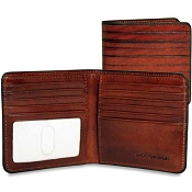 Jack Georges Monserrate Hipster Bi-Fold Leather Wallet