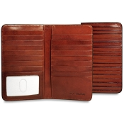 Jack Georges Monserrate Breast Secretary Bi-Fold Leather Wallet