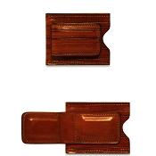 Jack Georges Monserrate Leather Card Holder | Money Clip