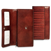 Jack Georges Monserrate Leather Clutch Wallet