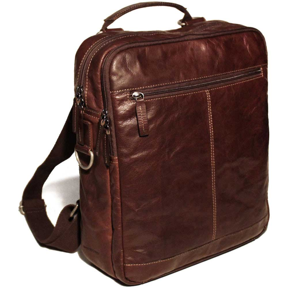 46743f40615 Jack Georges Voyager Leather Convertible Backpack Cross Body Bag ...