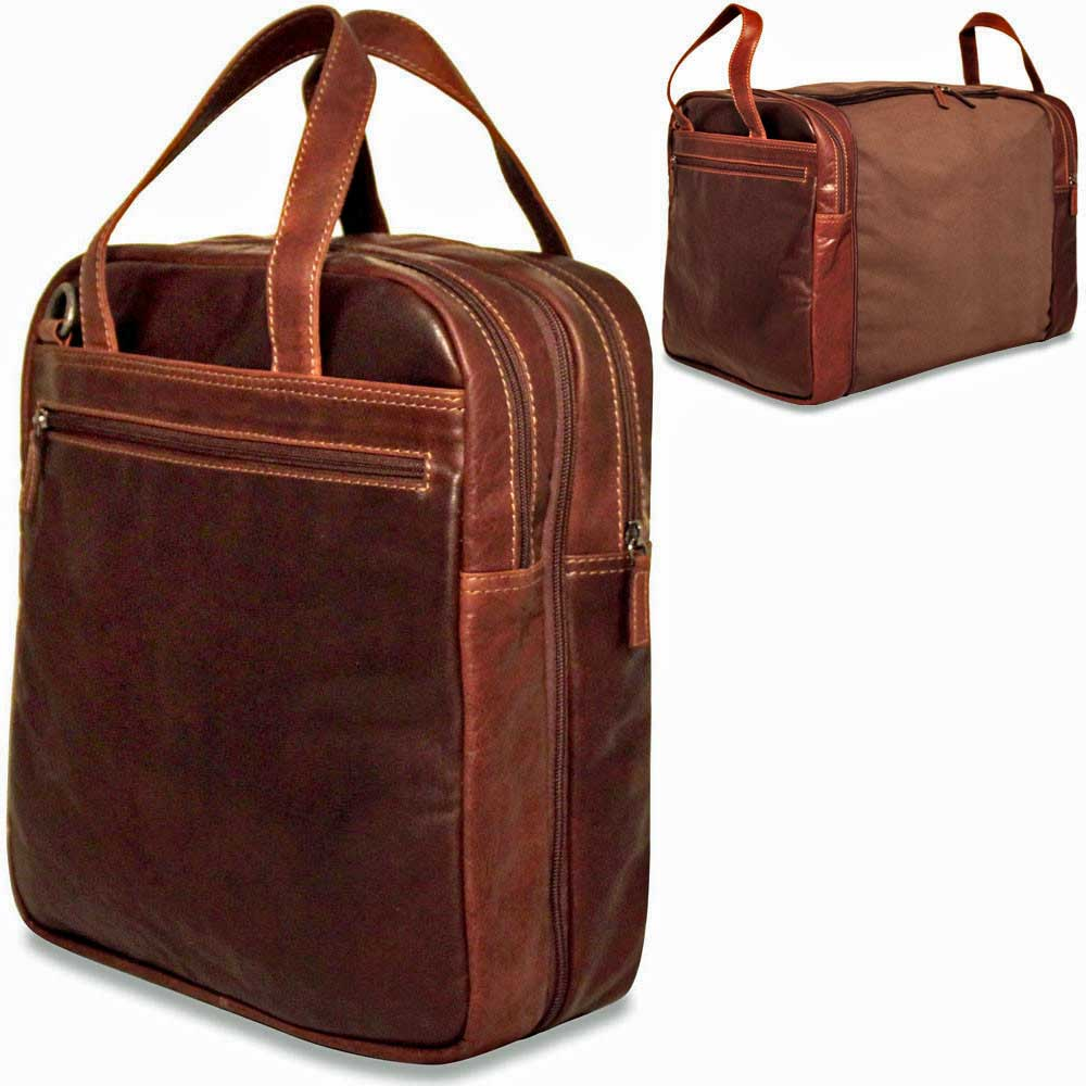 d697f7589 Jack Georges Voyager Convertible Crossbody/Duffle Bag handmade in brown hand -stained buffalo leather.