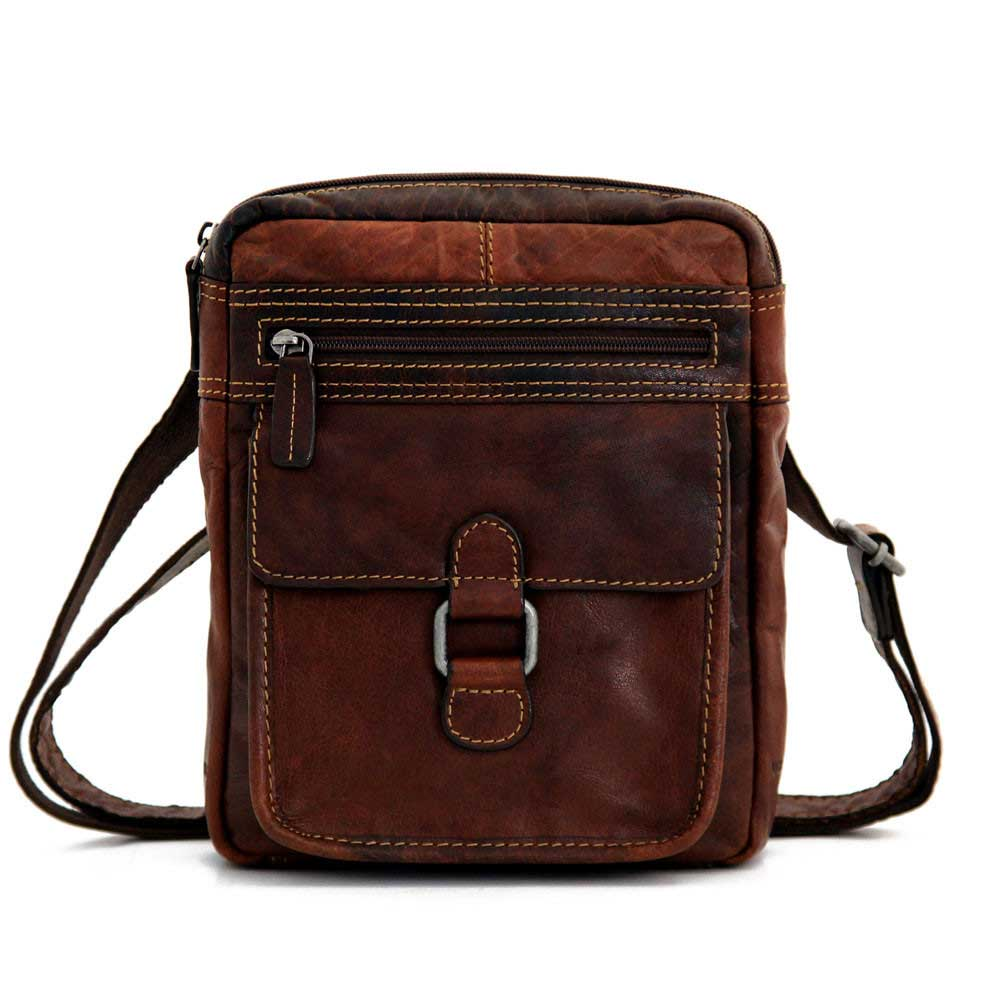 Jack Georges Voyager Slim Crossbody Bag 7204 BLACK