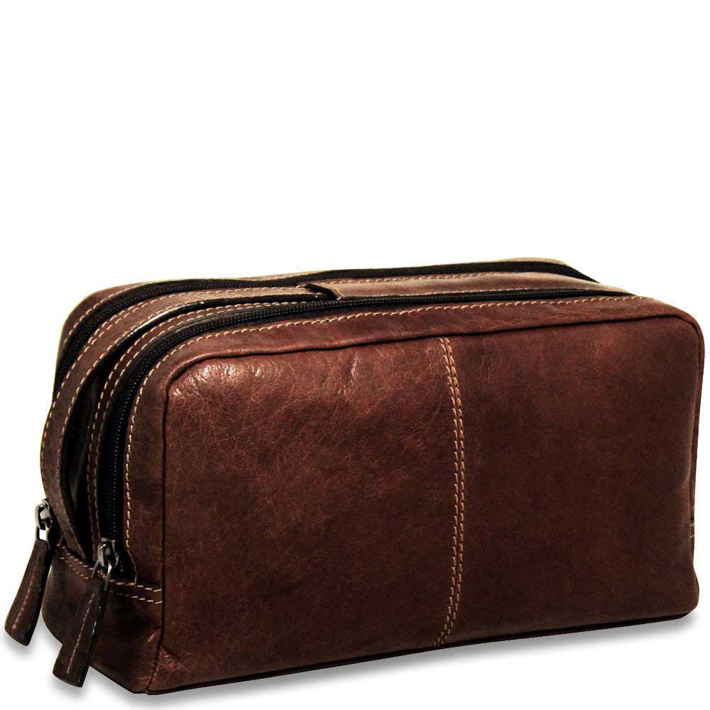 Jack Georges Voyager Leather Toiletry Bag #7220