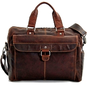 Jack Georges Voyager Leather Travel Briefcase #7316
