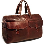 Jack Georges Voyager Leather Large Travel Duffle Bag #7322
