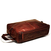 Jack Georges Voyager Leather Large Toiletry Kit / Shoe Bag #7414