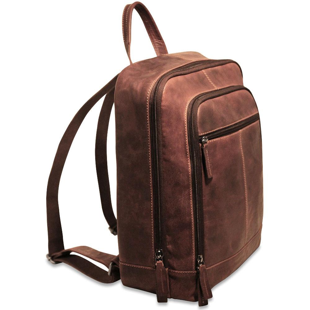 the cheapest discount outlet boutique Jack Georges Voyager Leather Laptop Backpack #7516